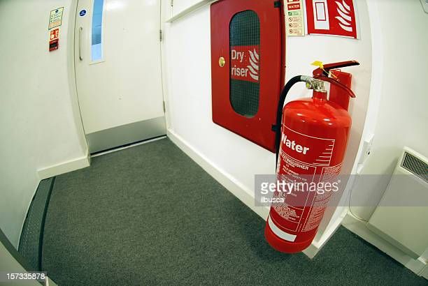 Fire extinguisher and emergency exit fisheye