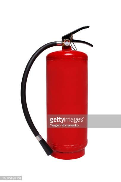 fire extinguisher isolated on white background - fire extinguisher stock photos and pictures