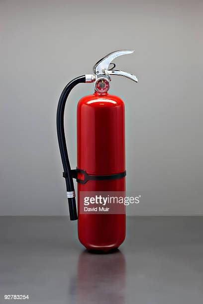 fire extinguisher on table