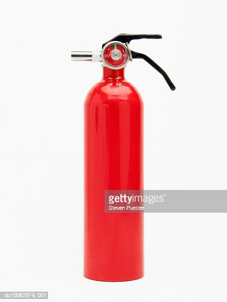 Fire extinguisher on white background