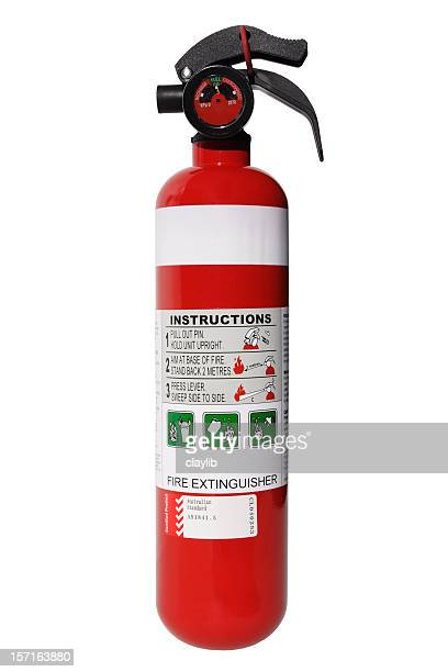 fire extinguisher with clipping path