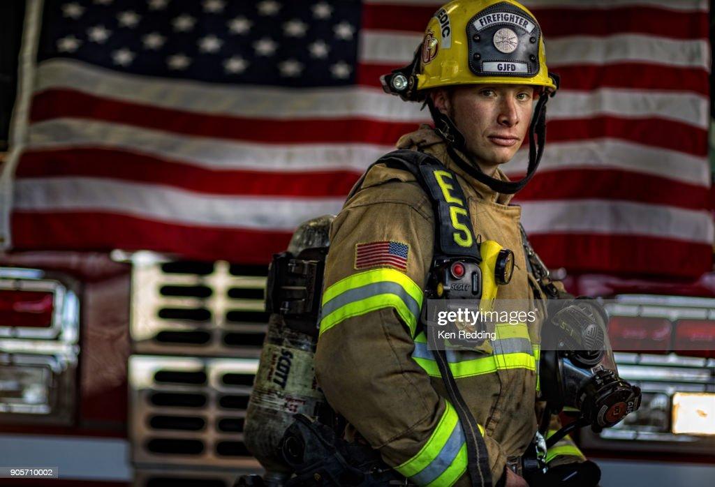 Fire Fighter : Foto de stock