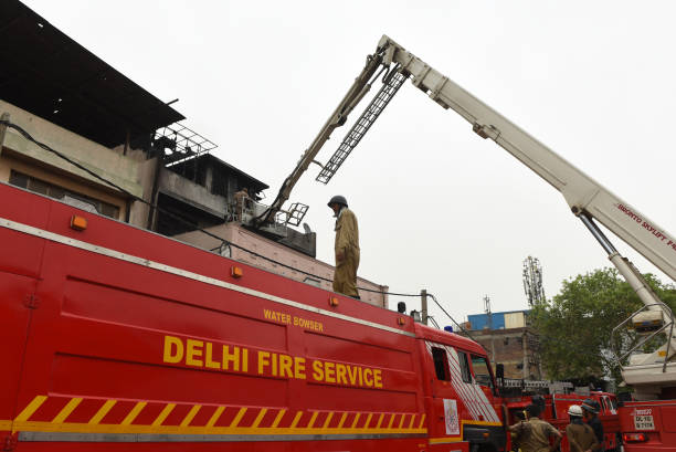IND: Major Fire At Footwear Factory In Delhi