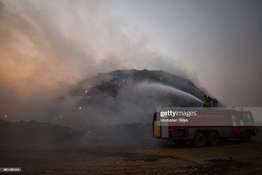 Fire Breaks Out At Okhla Landfill Site In South Delhi