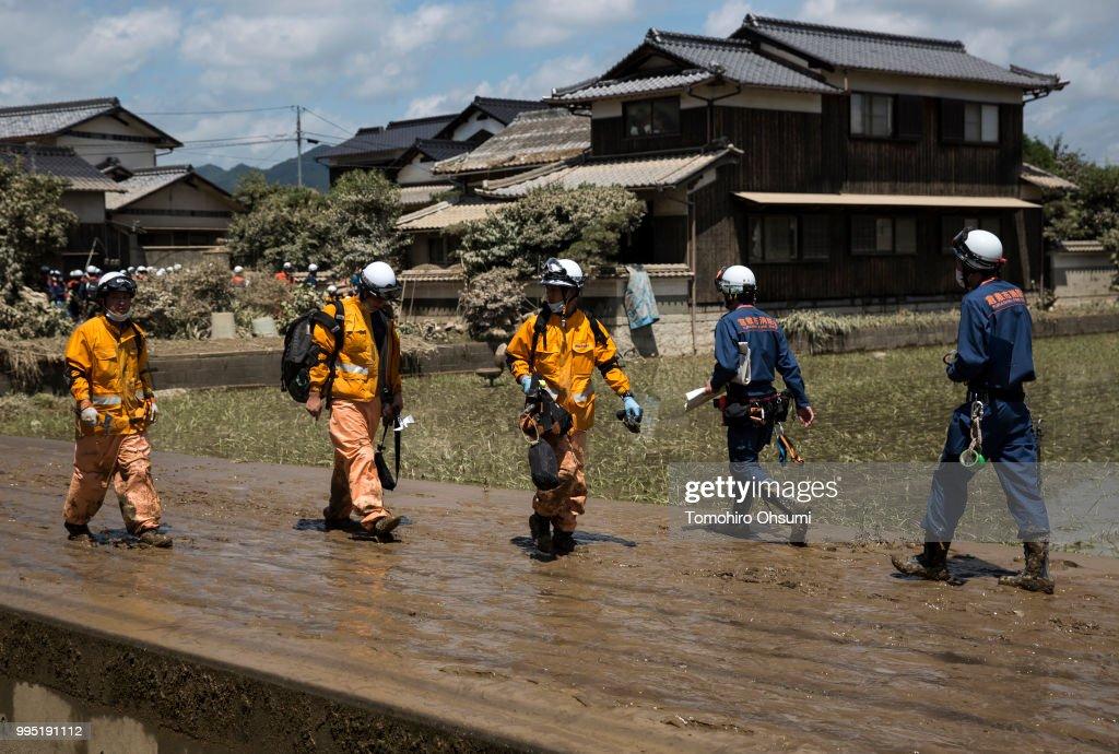 Historic Heavy Rain And Landslides Hit Japan : News Photo