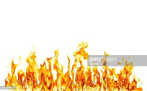 fire flame isolated over white background - fire natural phenomenon stock pictures, royalty-free photos & images
