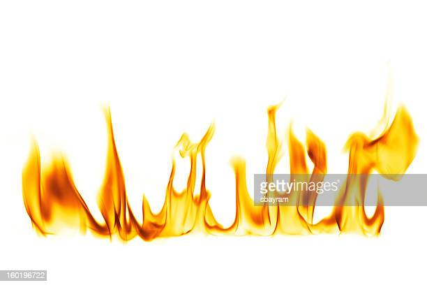 fire flame isolated over white background - flame stock pictures, royalty-free photos & images
