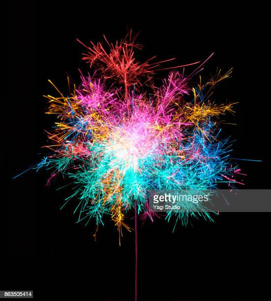 fire flower - sparks stock pictures, royalty-free photos & images