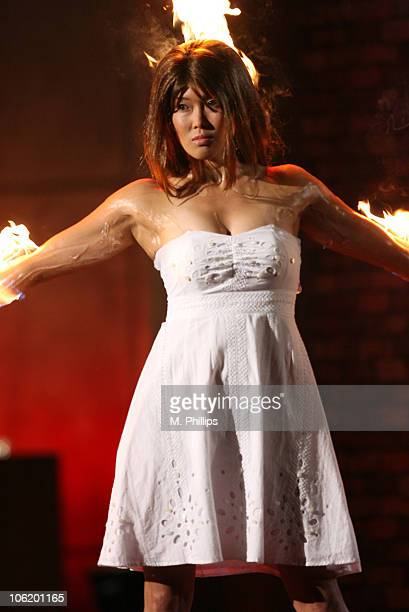 Fire for Hire runway show model during 2007 Taurus World Stunt Awards Show at Paramount Studios in Los Angeles California United States