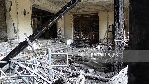 Fire gutted the ground floor of the Trade Unions building in Odessa, Ukraine, on May 2, and then lept to the upper floors, trapping pro-Russians who...