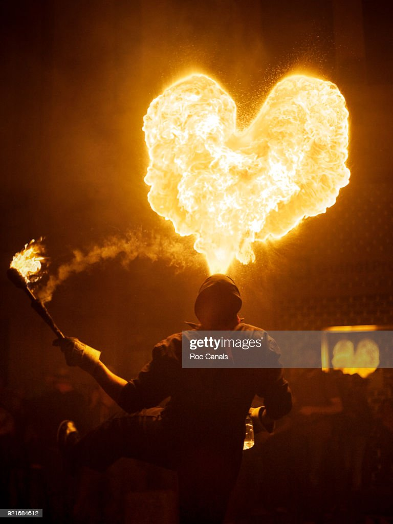 Fire Heart : Foto de stock