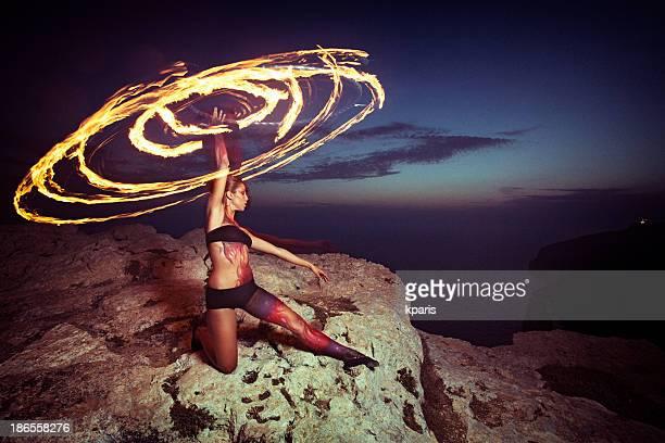 Fire Hoop Dancer