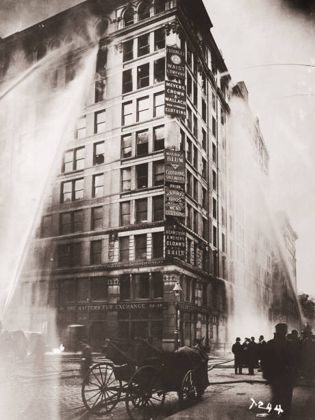NY: (GRAPHIC CONTENT) 25th March 1911  - Triangle Shirtwaist Factory Fire
