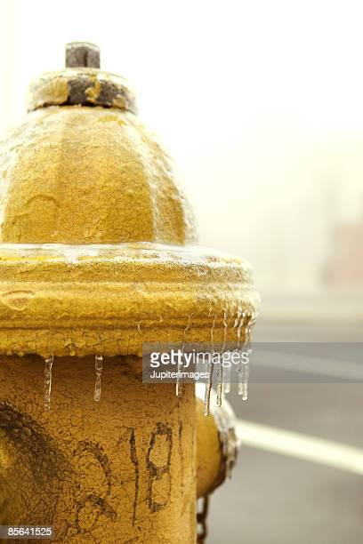 fire hydrant covered in ice - sleet stock photos and pictures