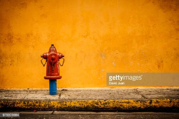 a fire hydrant on a footpath. - fire hydrant stock pictures, royalty-free photos & images