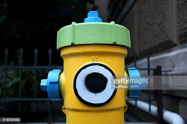 A fire hydrant painted as a minion character Athens Mar 18 2016