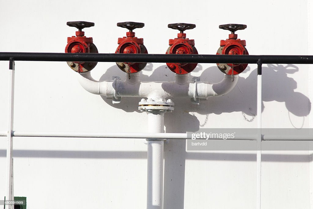 Fire hydrant water valves : Stock Photo