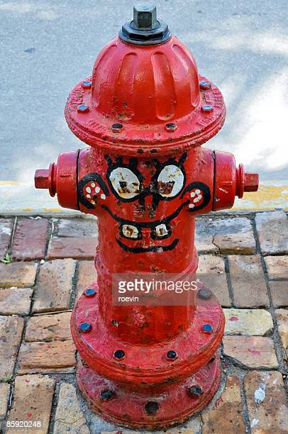 Fire hydrant with smiley face