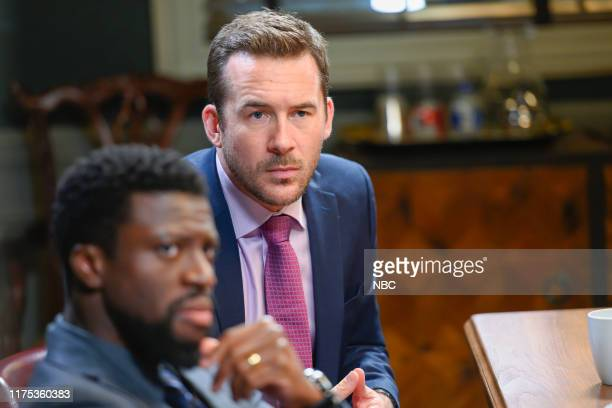 LAW Fire In A Crowded Theater Episode 105 Pictured Michael Luwoye as Anthony Little Barry Sloane as Jake Reilly