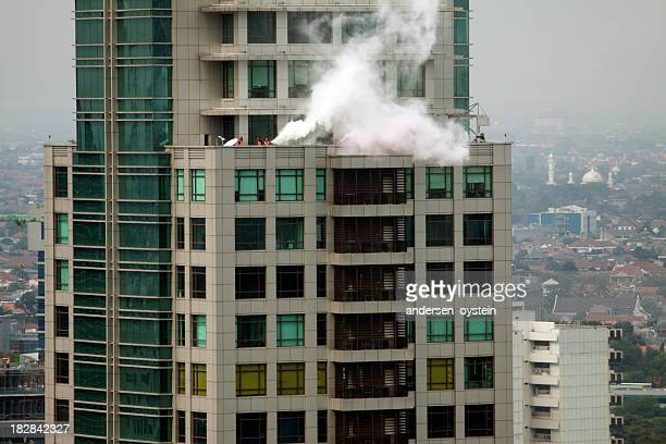 Fire in high rise office building.