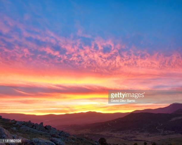Fire in the sky. Sunset in the 'Sierra de Guadarrama'