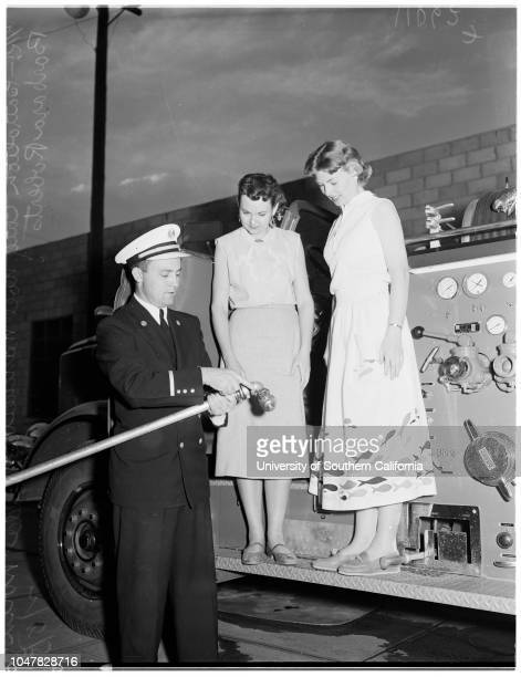 Fire Institute for Teachers 8 February 1954 Captain Henry J Heisterman County Fire DepartmentBattalion Chief Noel Manchester Velda Nolin Barbara...