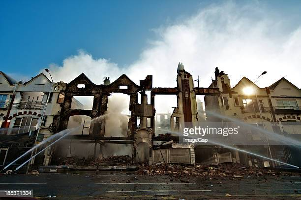 fire insurance - damaged stock photos and pictures