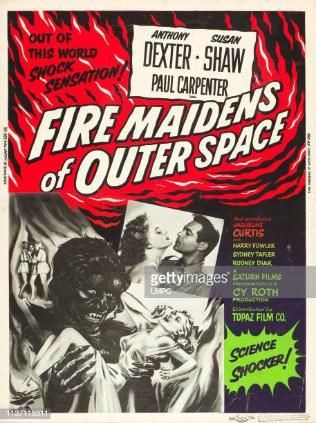 Fire Maidens Of Outer Space poster lr Susan Shaw Anthony Dexter on US poster art 1956