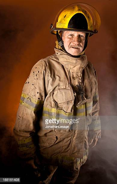 fire officer commandant severe looking