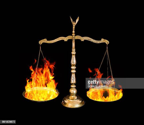 Fire on weighing scales