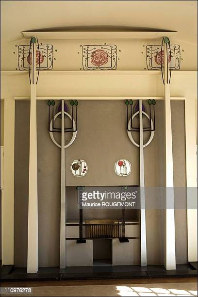 Fire place of the 'House for an art lover' by Charles Rennie Mackintosh in Glasgow United Kingdom on April 24th 2006