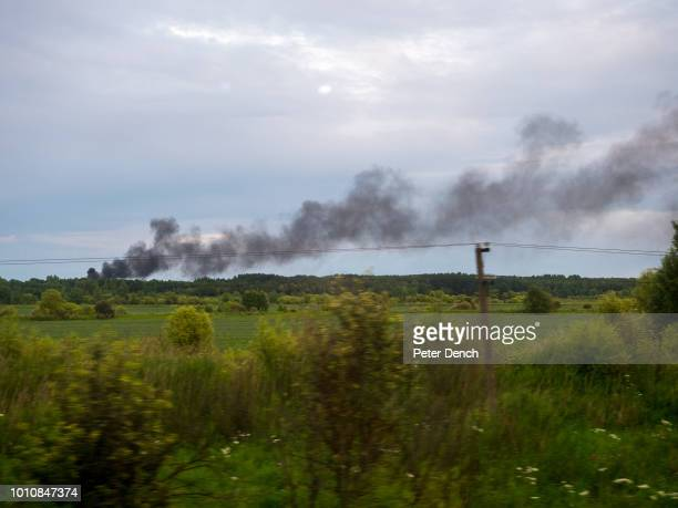 A fire seen from the TransSiberian Railway from MoscowVladivostok Spanning a length of 9289km it's the longest uninterrupted single country train...