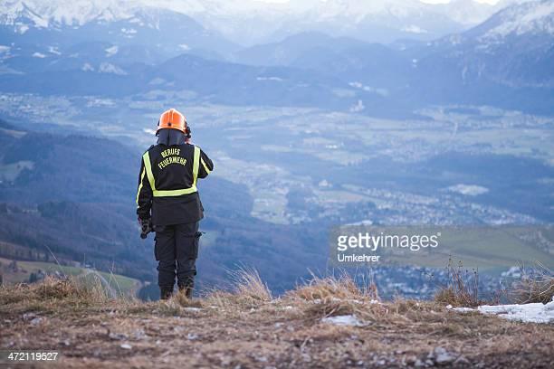 Feuerwehr in die Berge