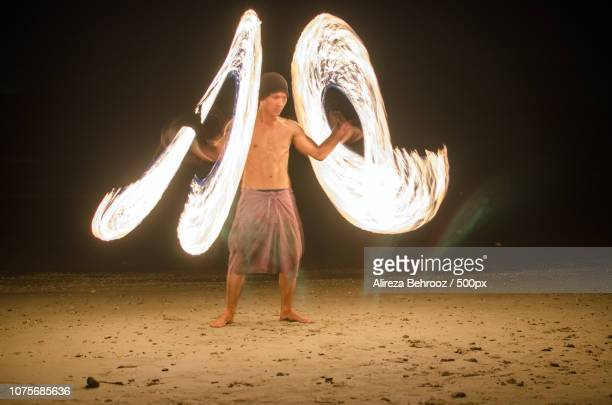 Fire show II, Lonely beach, Koh Chang, Thailand