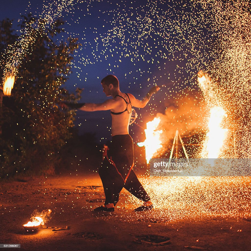 Fire show : Stock Photo