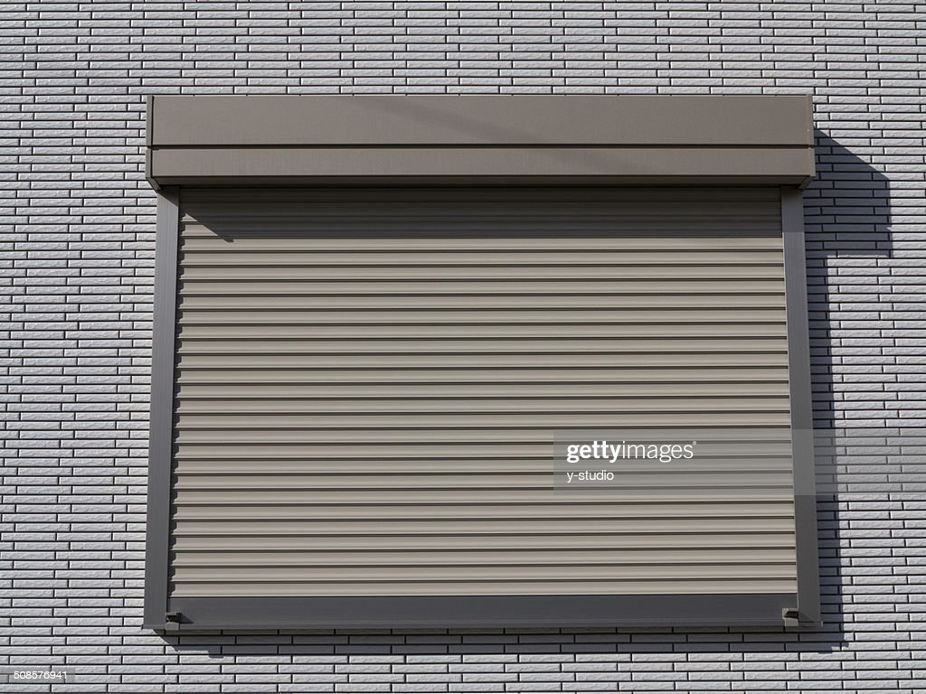 Fire shutter of the window of the house. : Stock Photo