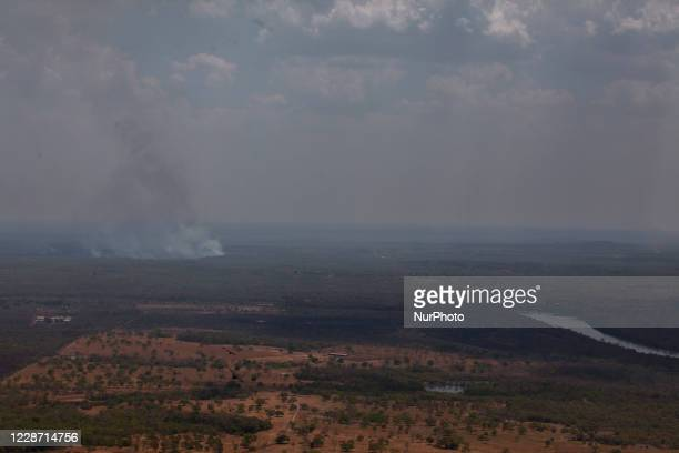 Fire spots on the banks of the Cuiaba River near the city of Santo antonio do Lerveger, in the state of Mato Grosso, Brazil, on September 25, 2020....
