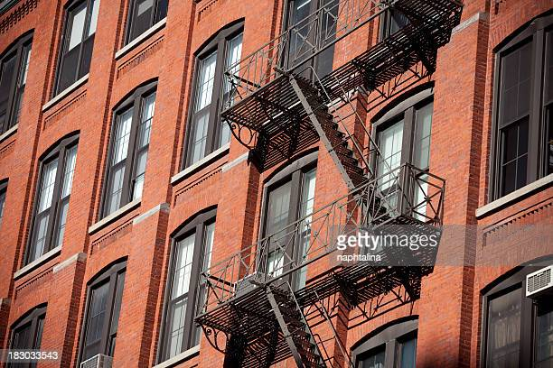 Fire Stairs in Brick building