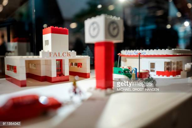 Fire Station from 1978 is on display at the LEGO House in Billund Denmark during the celebrations of the LEGO brick 60th anniversary on January 28...