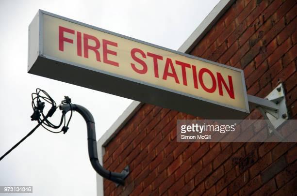 Fire station illuminated sign