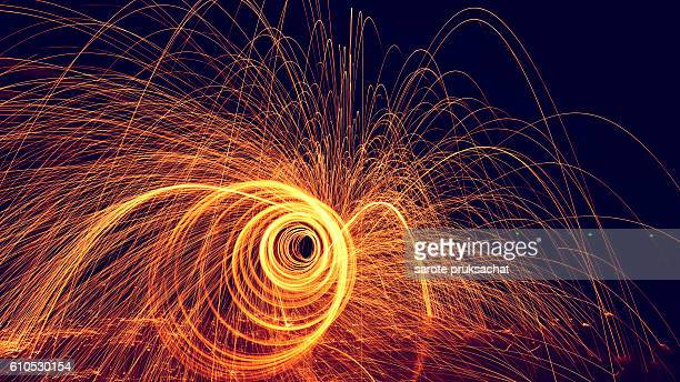 Fire steel wool .