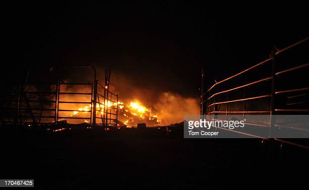 A fire that's been burning since Tuesday continues to consume acreage near Colorado Springs June 13 2013 in Black Forest Colorado The fire is the...