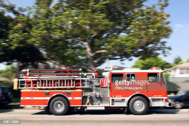 Fire truck responding to emergency