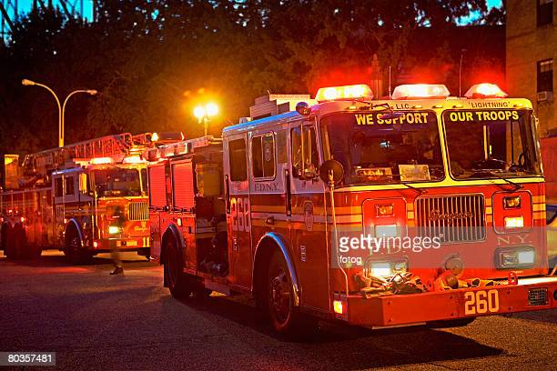 fire trucks, new york city - firetruck stock photos and pictures