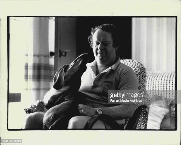 Fire Victim Jim Fowler of 39 King St Heathcote seen here with his dog Amber rose October 20 1988