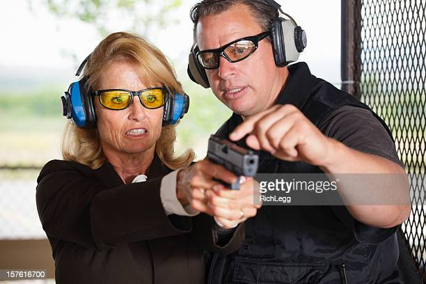 Firearm Instructor and Student