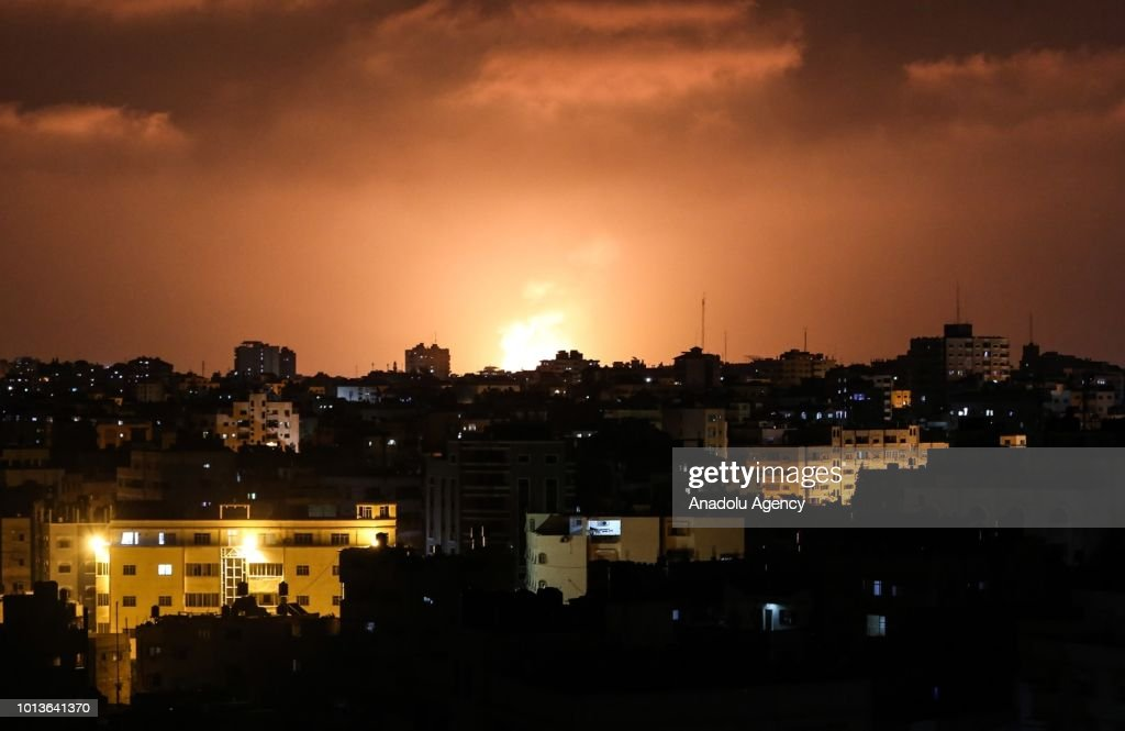 Israeli army carried out airstrikes on Gaza : News Photo