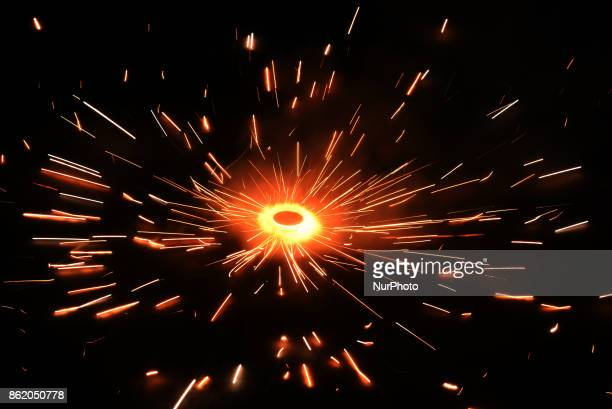 Firecrackers on the coming occasion of Diwali Festival in KolkataIndia