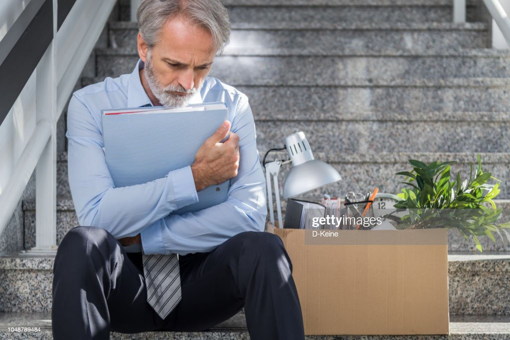 Fired businessman : Stock Photo