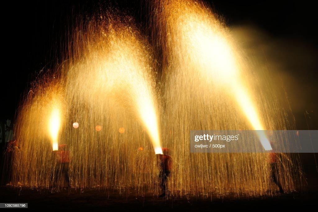 'fire'fall : Stock Photo